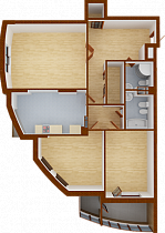 Three-room apartment. Section 5