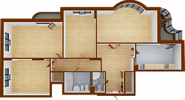 Four-room apartment. Section 5.