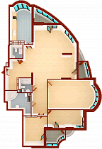 Four-room apartment. Section 1.