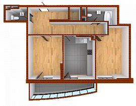 Two-room apartment. Section 2.