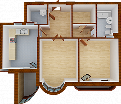 Two-room apartment. Section 8.